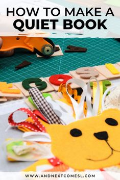 Find out how to make your first quiet book with awesome tips then browse tons of quiet book page ideas and patterns. Don't forget to grab a copy of the free planning guide so that you can make an awesome busy book in no time! Diy Busy Books, Diy Quiet Books, Baby Quiet Book, Felt Quiet Books, Baby Books, Felt Doll Patterns, Quiet Book Patterns, Felt Patterns Free, Quiet Book Templates