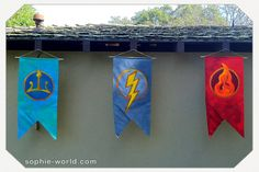 Percy Jackson Banners, lots of pary ideas here |sophie-world.com