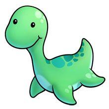 nessie Cute Animal Clipart, Cute Cartoon Animals, Cute Clipart, Cute Animals, Cute Cartoon Drawings, Cute Animal Drawings, Kawaii Drawings, Easy Drawings, Cute Dinosaur