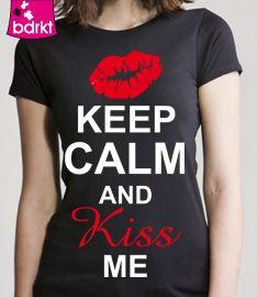 #Valentijnsdag  Keep Calm and Kiss me... en meer op www.bedrukt.nl.