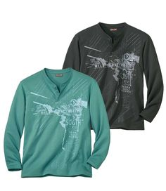 Lot de 2 Tee-Shirts Wild Territories #atlasformen #formen #discount #shopping #ootd #outfit #fashion #timeless #instafashion #casual #style #travel #voyage #canada #collection #newin #arizona