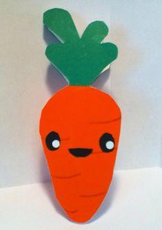 Handmade Kawaii Carrot Card Cardstock by justcreativecards on Etsy, $3.50