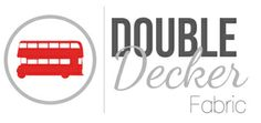 Logo Double Decker Fabric - Canadian Fabric Store