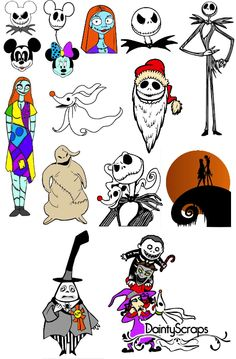 The Nightmare Before Christmas SVG's from DaintyScraps Disney SVG
