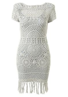 Tejidos - Knitted - beautiful crochet dress