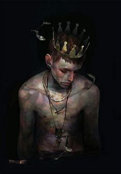 Digital Painting by XHXIX. (his work has so much sorrow melancholy in it but exquisitely painted digitally) Character Inspiration, Character Art, L'art Du Portrait, Boy Art, Pretty Art, Dark Art, Art Inspo, Amazing Art, Art Reference