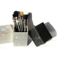 Cheap makeup brush set, Buy Quality brush set directly from China makeup brush holder Suppliers: Big Diamond Mermaid makeup brush holder Crystal Rhinestone makeup brush set case makeup brushes organizer container cup cosmetic Cheap Makeup Brushes Set, Makeup Tools, Rhinestone Makeup, Crystal Rhinestone, Contour Makeup, Makeup Brush Set, Leopard Makeup, Makeup Tumblr, Makeup Brush Holders