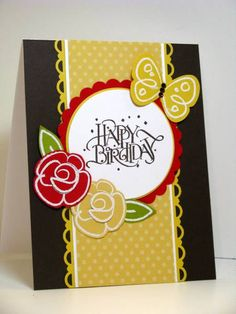 Flower Fest for Two Challenges by atsamom - Cards and Paper Crafts at Splitcoaststampers