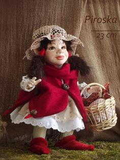 Little red riding hood BJD doll. Art doll, ooak. Full body porcelain ball jointed doll by LegendLand Dolls