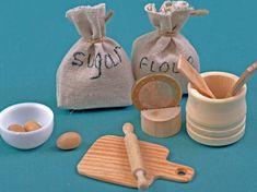 Barbie 1:6 Kitchen Food Miniature Bag of White Flour Tortilla Mix