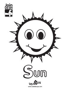 """Celebrate the sunshine and longer days of Summer with USA Kids' """"Sun"""" coloring sheet."""