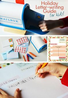 {Holiday Letter-Writing for Kids!} *Free letter-template printable