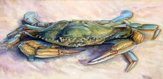 Blue Crab Study Crabs, Art World, Study, Artist, Blue, Animals, Studio, Animales, Animaux