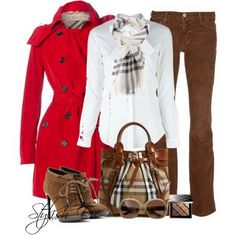 Love Burberry, love the whole outfit....not super crazy about the boots....too bad I don't have the figure for this outfit...
