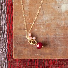 Sweetheart Drop Necklace - could be a fairly simple knock-off.