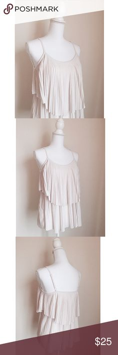 Lauren Conrad Pleated Top ✨ LC by Lauren Conrad gorgeous pleated top with a layered hem look - Gorgeous & one of a kind ⚜️ Size medium LC Lauren Conrad Tops