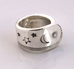 Spoon Ring, THUMB, Forefinger Ring - YOUTH 1940 - Vintage Silverware Spoon Ring, Spoon Jewelry - Ready To Ship - Made In Usa - Size 10.5 by SilverwareCreations on Etsy