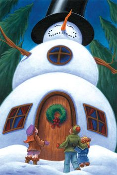 Snowman House by Red-Clover on DeviantArt