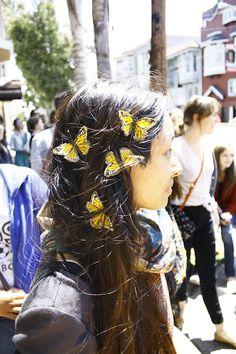 I want butterflies in my hair!