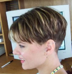 The Pixie Revolution: Pixie Cuts, Buzzed Napes, Sidebuzz Pics Oct Short Pixie Haircuts, Cute Hairstyles For Short Hair, Short Hair Cuts For Women, Pixie Hairstyles, Short Hair Styles, Short Wedge Hairstyles, Short Wedge Haircut, Scene Hairstyles, Short Grey Hair