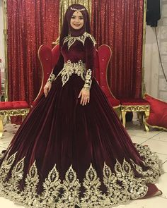 Most Beautiful Share the beauty and love Wedding Hijab Styles, Muslim Wedding Dresses, Muslim Brides, Muslim Dress, Hijab Dress, Bridal Dresses, Muslim Girls, Dress Wedding, Bridal Hijab