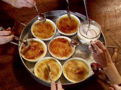Crème Brulee 1 quart heavy cream 1 vanilla bean, split, or 1 teaspoon pure vanilla extract 10 egg yolks 3/4 cup superfine sugar, plus extra for sprinkling                                                                                                                         ...