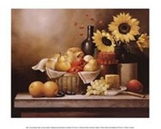 Tangletown Fine Art 'On the Kitchen Table' by Victor Santos Graphic Art on Wrapped Canvas Food Art For Kids, Kitchen Pictures, Wall Pictures, Kitchen Wall Art, Illustrations, Easy Projects, Home Improvement Projects, Decoration, Home Furnishings