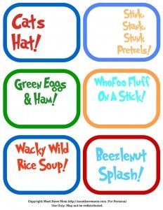I will also be sharing with you the recipes from my Dr. Seuss party food and the free Dr. Seuss printables that I created for everything!