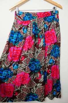 Vintage 80s/90s Awesome Wild Funky Floral by LipstickDinosaur, $20.00