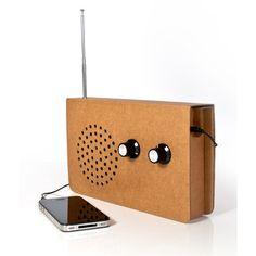 Cardboard Radio Speaker. Nice, lightweight way to bring music with you.