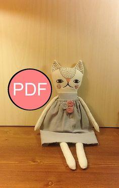 cat sewing pattern PDF cat pattern tutorial PDF by NatashaArtDolls