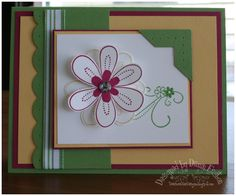Friendship Flowers using Stampin Up Friendship Blooms