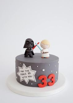 Orange cake without flour - HQ Recipes Bolo Star Wars, Star Wars Cake, Star Wars Party, Fondant Cakes, Cupcake Cakes, Aniversario Star Wars, Star Wars Birthday Cake, Dad Cake, Best Party Food