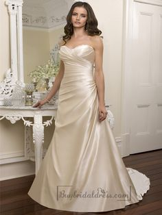 Elegant Beaded Sweetheart Cross Bodice Wedding Dresses Featured Beaded Cutout Back