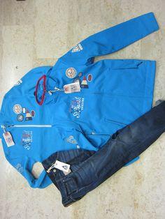 TRIS  gaastra  softshell jaket + felpa + jeans   collezione regatta ST BARTH