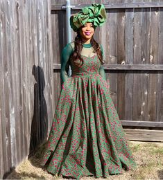 Traditional Tuesday💚 'The day he honored my family and culture' Tafadzwa Repost via Dress Designer and Stylist:… African Print Dresses, African Print Fashion, African Fashion Dresses, African Dress, Xhosa Attire, African Attire, Shweshwe Dresses, Designer Dresses, Tuesday