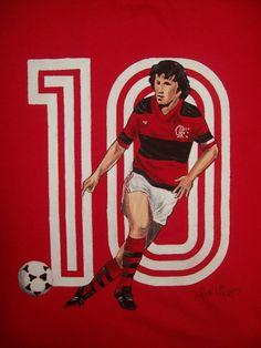 Zico of CR Flamengo wallpaper. World Football, Football Soccer, Football Players, Football Wallpaper, Sports Clubs, Caricature, World Cup, Brazil, Cartoon