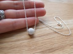 Silver Necklace & Stardust Bead  Bridesmaid Gifts by tinysilver, £15.00