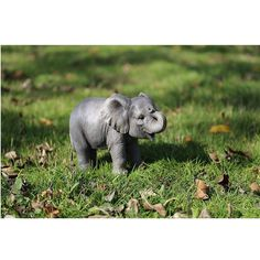 Polyresin Baby Elephant Statue Gray - Hi-Line Gift Gender: unisex. Cute Baby Animals, Farm Animals, Wild Animals, Grey Elephant, Wild Elephant, Elephant Sculpture, Grey Gardens, Animal Pictures, Elephant Pictures