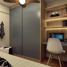 When you work at home, a cozy work station is crucial. If your house is filled with carved units and you receive a bamboo settee because it appears gr. Small Room Bedroom, Closet Bedroom, Bedroom Decor, Modern Home Interior Design, Home Office Design, Bachelor Room, Student Room, Wardrobe Design Bedroom, Small Room Design