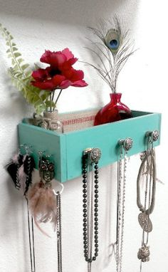 dresser drawer made into a jewelry holder