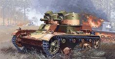 Vickers MK.E (Twin Turrets).