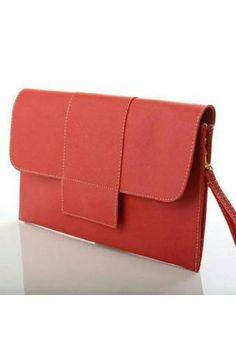 Belanja Clutch Faux Leather   8 Pilihan Warna - Tas Wanita - MERAH  Indonesia Murah - 8cbe721409