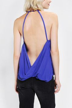 Silence + Noise Backless Surplice Tank Top- from Urban Outfitters