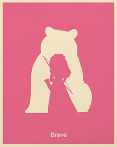 Pixar Minimalist Poster - Brave, created by Wonchan Lee and Andrea Nguyen