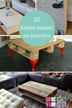 20 idées pour fabriquer une table basse avec des palettes // http://www.deco.fr/loisirs-creatifs/photos-79207/