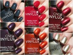 The PolishAholic: CND Vinylux Fall 2014 Modern Folklore Collection Swatches & Review