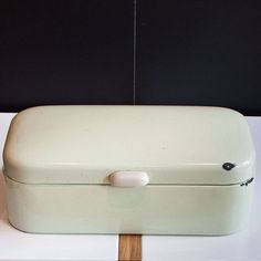 Enamel Bread Box by Post27Inc on Etsy, $70.00