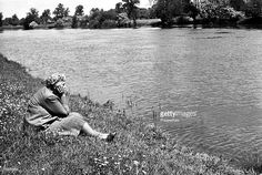 1950, English crime writer Agatha Christie relaxing by the river, Agatha Christie, (1890-1976), the world's best known mystery writer, famous for her Hercule Poirot and Miss Marple stories, and for her plays including 'The Mousetrap'