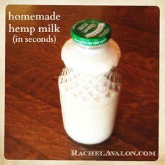 Homemade Hemp Milk (in seconds)